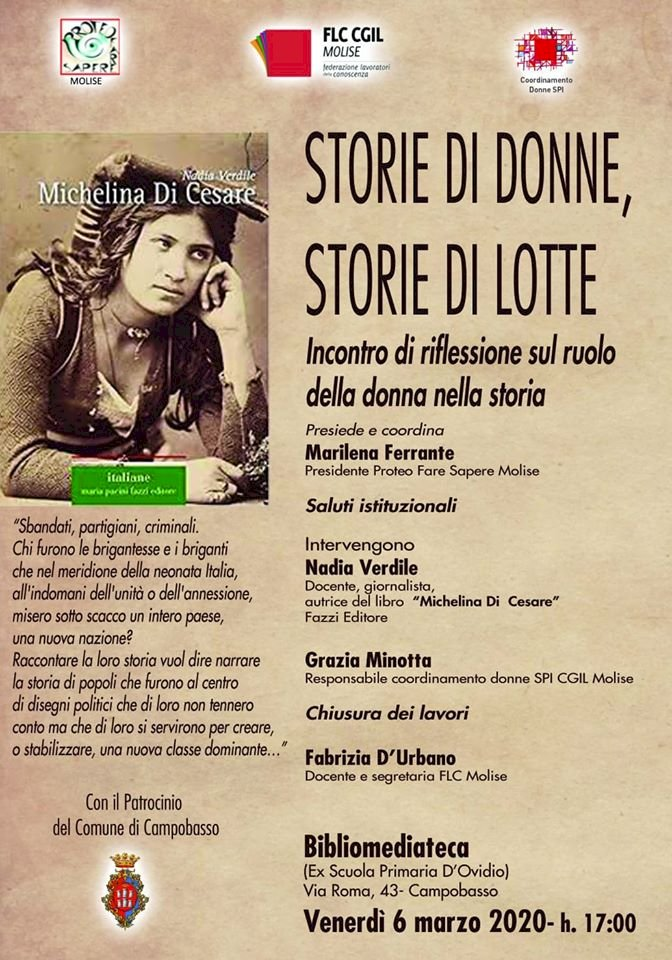 Storie di donne, storie di lotte: Incontro di riflessione sul ruolo della donna nella storia