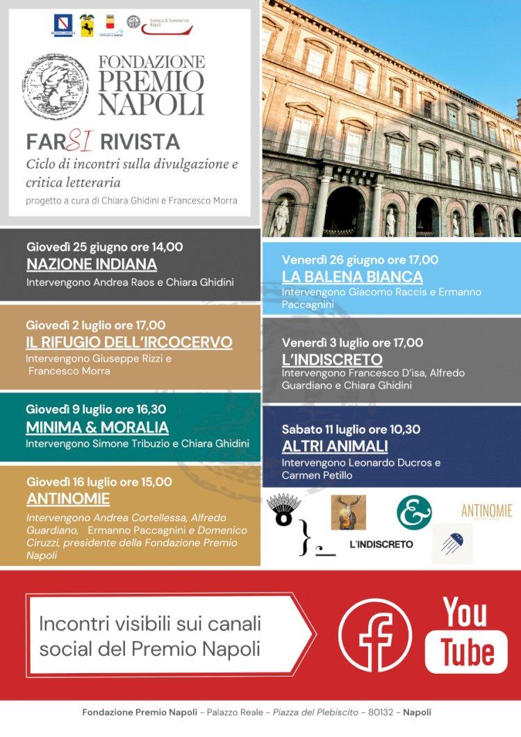 «FarSi Rivista», la Fondazione Premio Napoli organizza una rassegna online con riviste e litblog