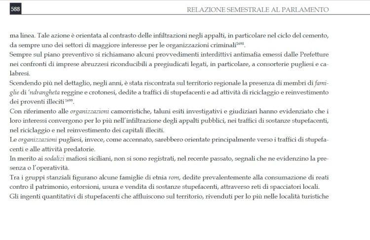 Abruzzo, la  «regione camomilla» tra narcotraffico e colletti bianchi
