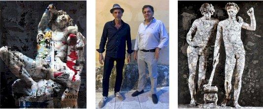 L'artista Andrea Chisesi dona due opere a Pietrasanta