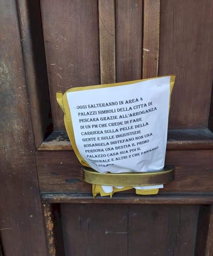 Pescara: ALLARME BOMBE. Pericolo rientrato