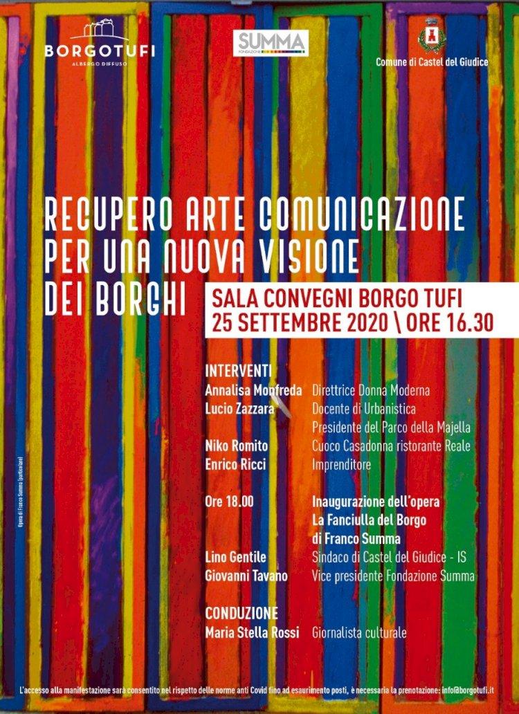 Borgotufi diventa luogo d'arte con la «Fanciulla» dell'artista Franco Summa