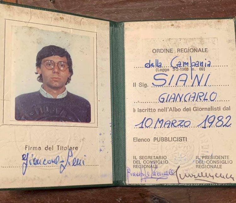 Giancarlo SIANI è diventato professionista
