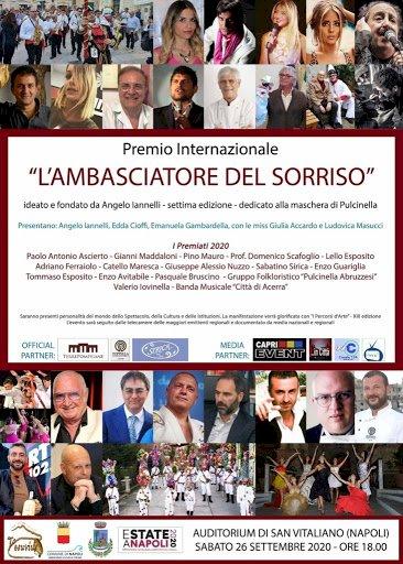 Premio Ambasciatore del Sorriso 2020, tra i premiati Ascierto e Maresca