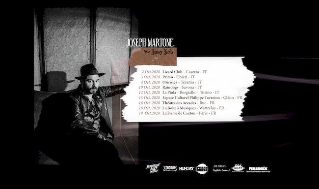 Joseph Martone in tour tra Italia e Francia con il nuovo album «Honey Birds»