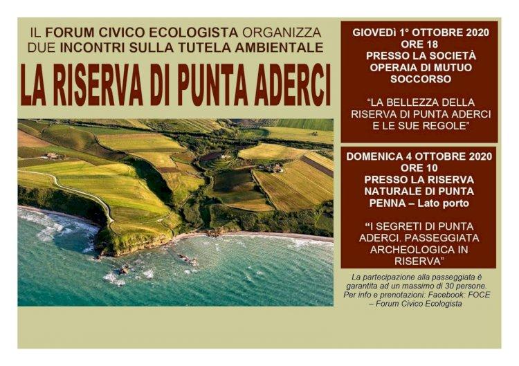 La Riserva di Punta Aderci: due incontri sulla tutela ambientale