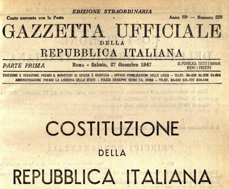 La Costituzione italiana. La libertà personale