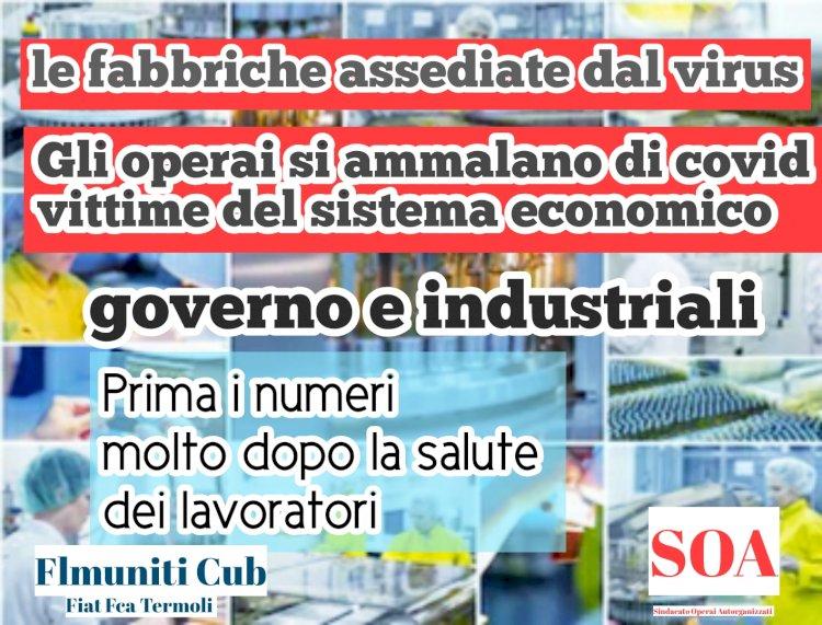 Covid: «aumenti in Fiat Fca e nelle fabbriche italiane»