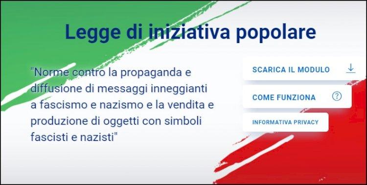 Partita la raccolta firme per la legge di iniziativa popolare contro la propaganda fascista e nazista