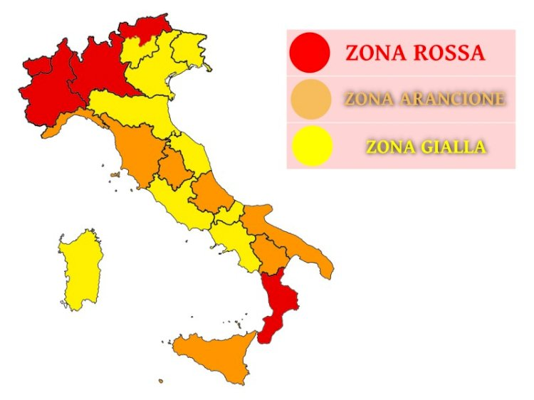 PANDEMIA. L'Abruzzo retrocesso a zona arancione. Allarme sempre più rosso