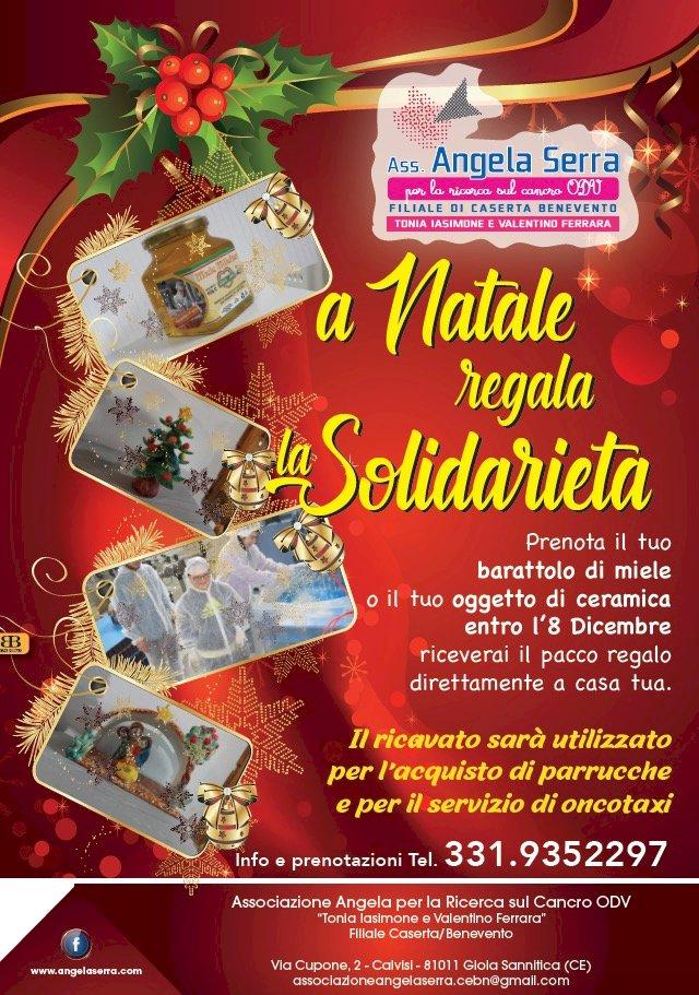 «A Natale Regala la Solidarietà», l'ultima iniziativa dell'Associazione Angela Serra