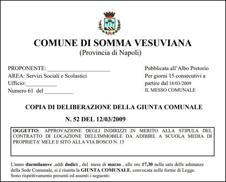 Edilizia scolastica ai privati: Somma Vesuviana batte ogni record