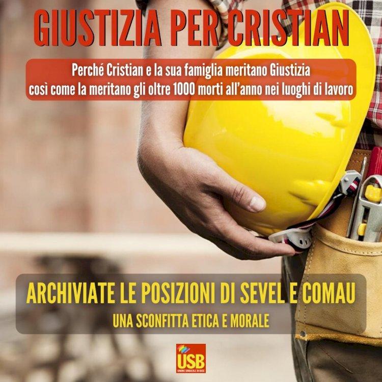 Giustizia per Cristian e gli oltre 1000 morti l'anno sul lavoro