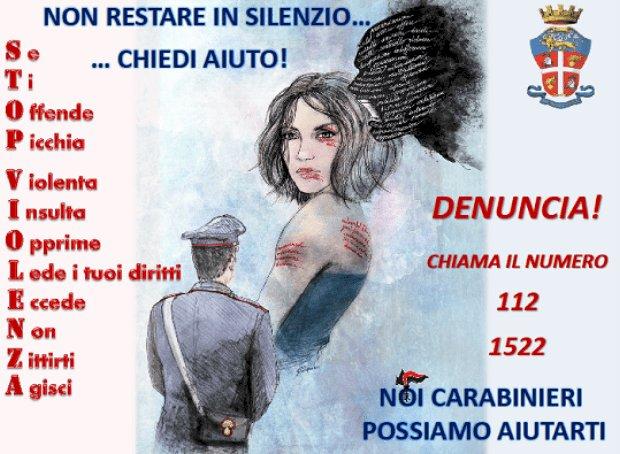 I Carabinieri di Isernia impegnati per la Giornata mondiale contro la violenza sulle donne