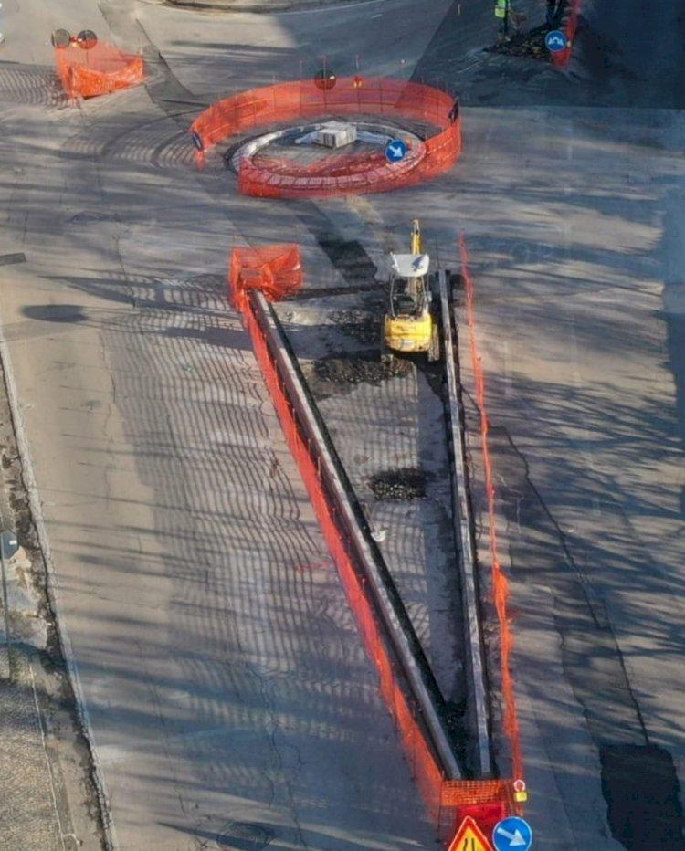 ESCLUSIVA lavori in corso di via Pomintella in Somma Vesuviana