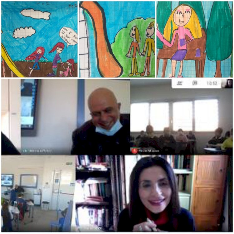 Incontro virtuale con gli alunni della III C, un'ora di rara autenticità