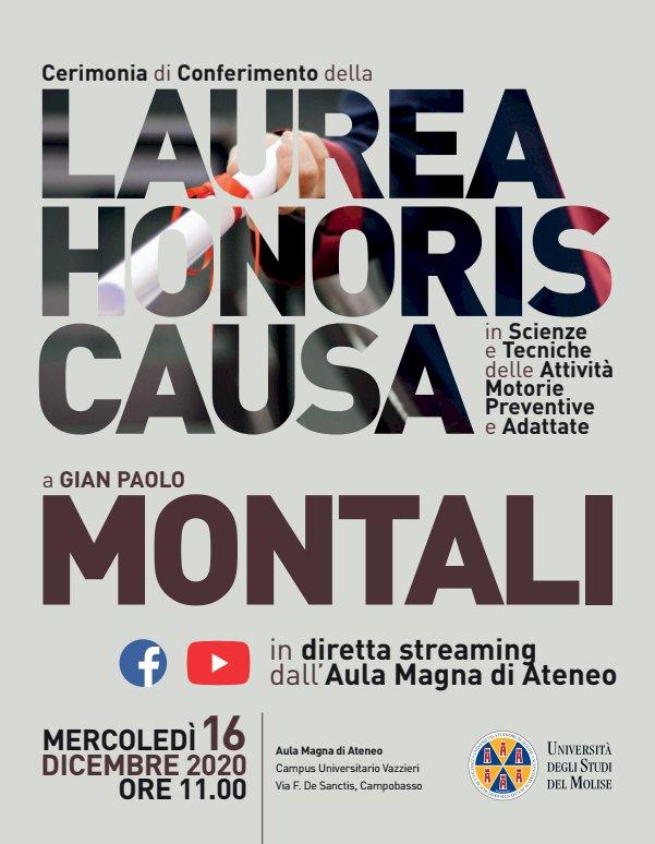 Università del Molise, laurea honoris causa a Montali
