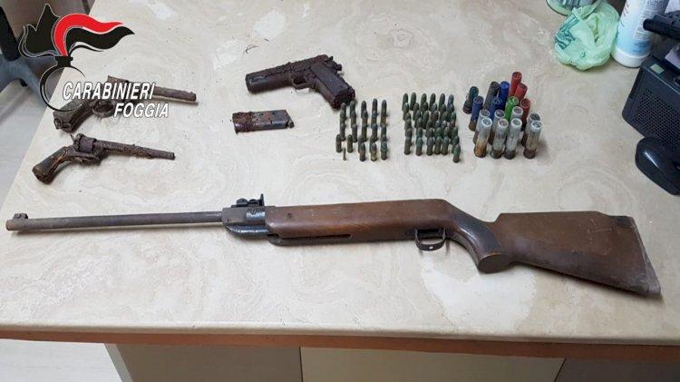 Provincia di Foggia, arresti per detenzione abusiva di armi, furti e un incendio in Bulgaria