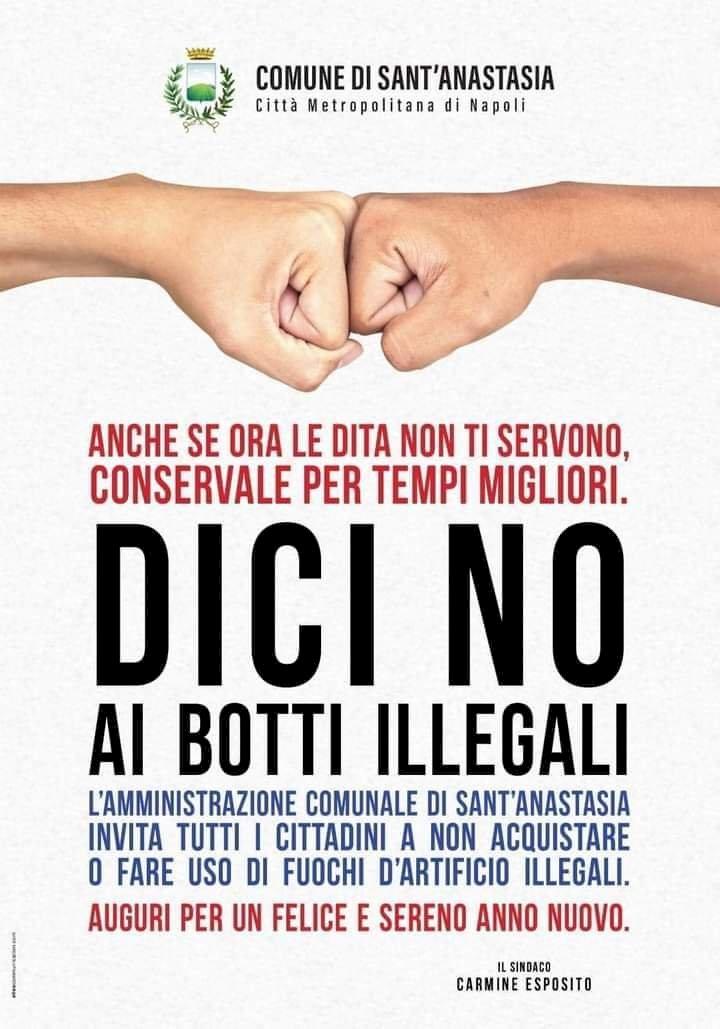 Sant'Anastasia e Pomigliano, atti di civiltà e rispetto. Due comuni uniti contro i fuochi pirotecnici