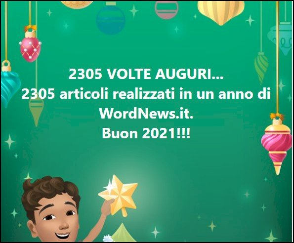 Buon 2021 dalla redazione di WordNews