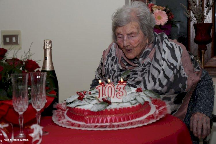 Nonna Silvia: la cittadina più longeva di San Potito Sannitico compie 103 anni