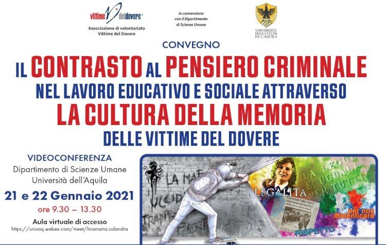 Contrasto al pensiero criminale nel lavoro educativo e sociale attraverso la cultura e la memoria