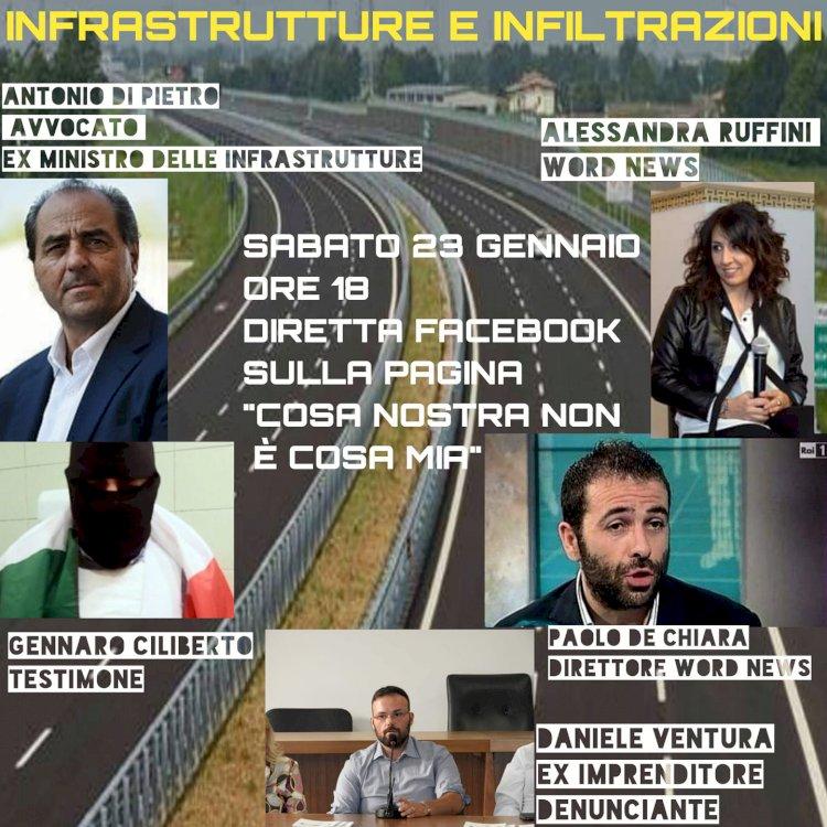 Infrastrutture e infiltrazioni: Antonio Di Pietro si confronta con imprenditori e testimoni di giustizia