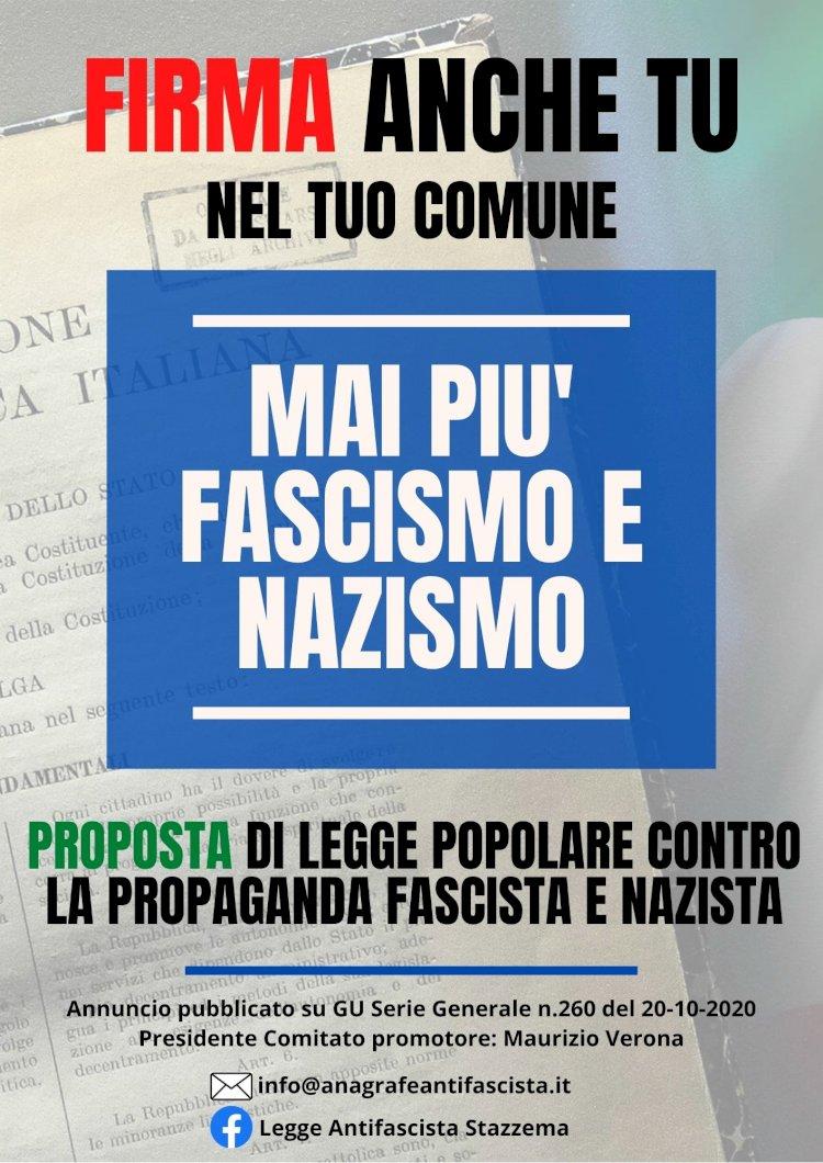 Legge Antifascista, andiamo tutti a firmare