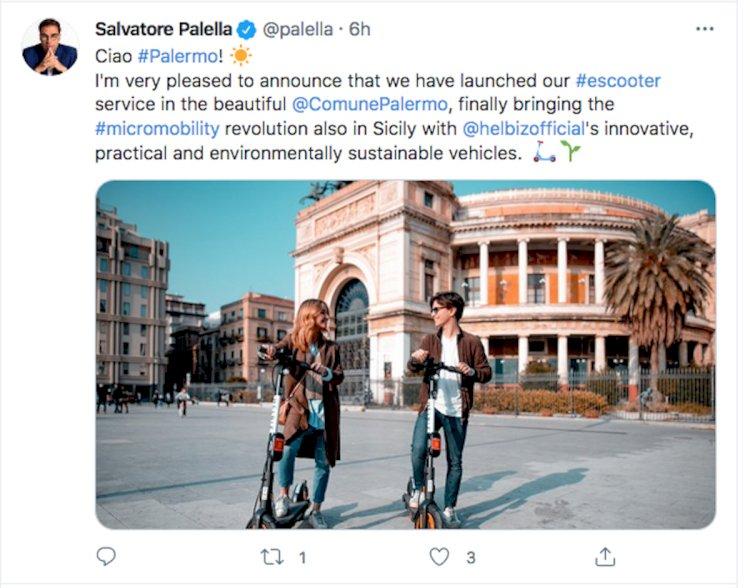 «Monopattino Sharing», al via anche a Palermo la micromobilità