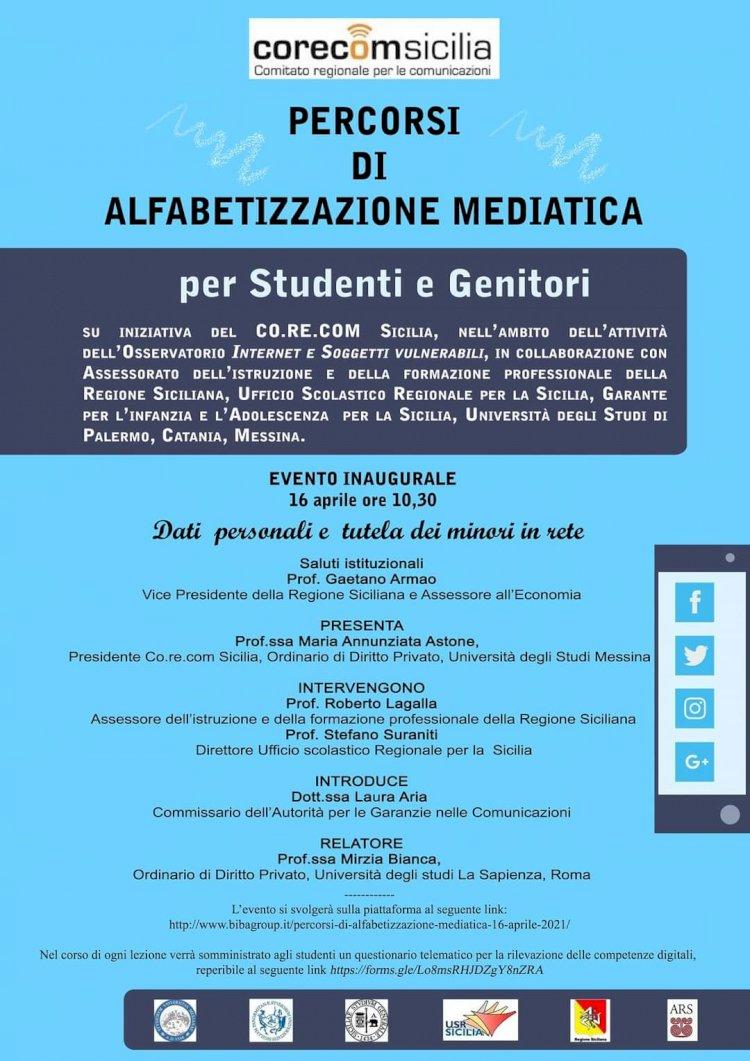 Alfabetizzazione mediatica, l'impegno del Corecom Sicilia