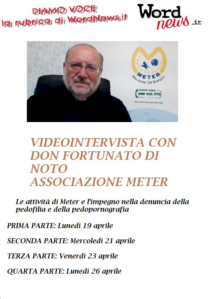VIDEOINTERVISTA a don Fortunato Di Noto (Meter onlus)