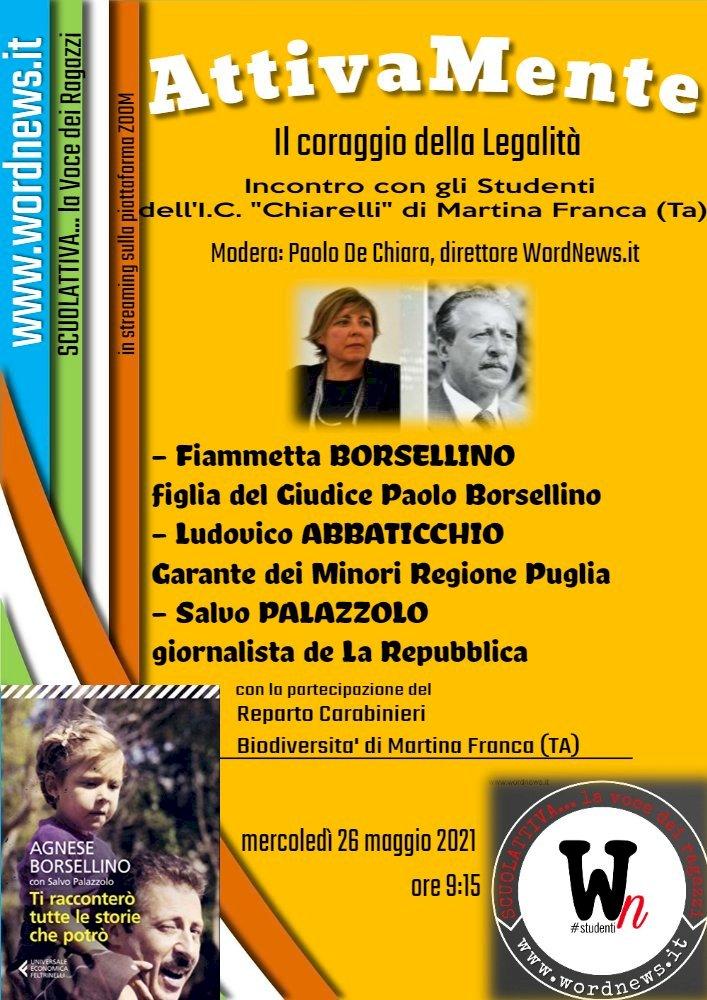 ScuolAttiva, Fiammetta Borsellino incontra gli studenti di Martina Franca