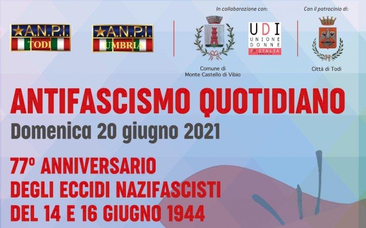 Antifascismo: anniversario degli eccidi nazifascisti del 14 e 16 giugno 1944