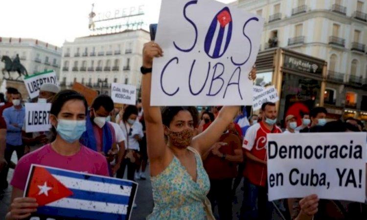 Cuba tra manifestazioni di protesta:  molte le persone in piazza anche nel resto del mondo