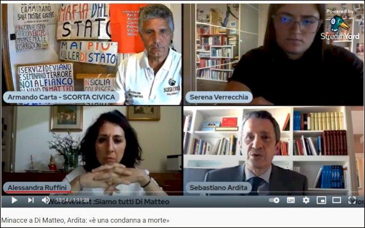 Minacce a Di Matteo, Ardita: «è una condanna a morte»