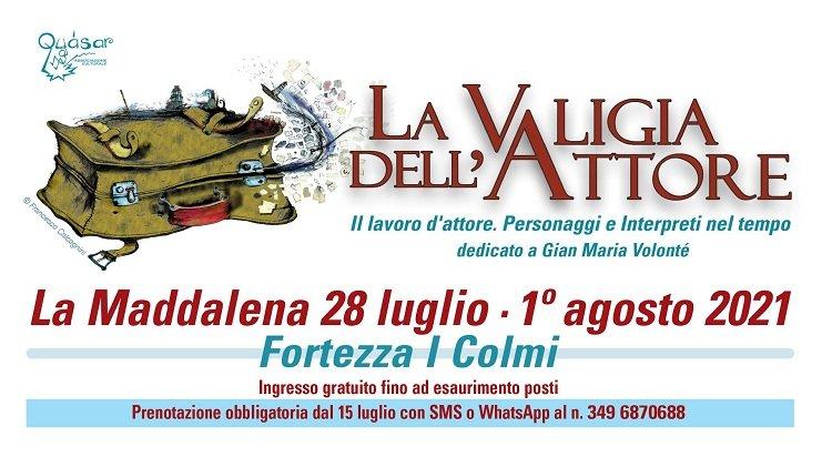 Dal 28 luglio l'isola di La Maddalena ospita la diciottesima edizione della Valigia dell'Attore