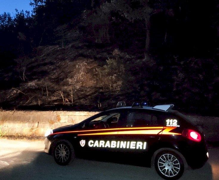 I  carabinieri arrestano un piromane