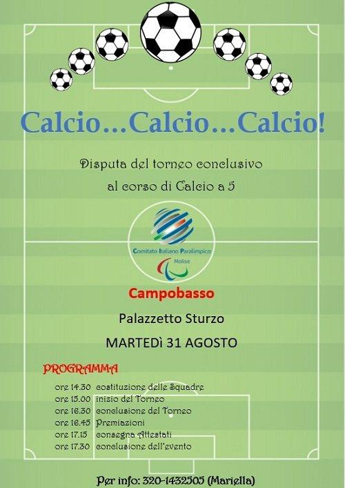 Calcio… Calcio… Calcio: torneo domani al Palazzetto Sturzo di Campobasso