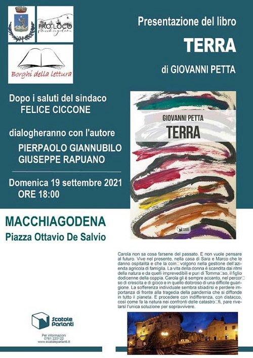 Umberto Berardo e Giovanni Petta a Macchiagodena con i libri  «FRAMMENTI DI ESPRESSIONI ESISTENZIALI» e «TERRA»