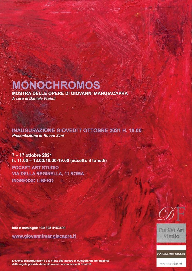 MONOCHROMOS, Mostra personale di Giovanni Mangiacapra  -  Stato di collisione di Rocco Zani