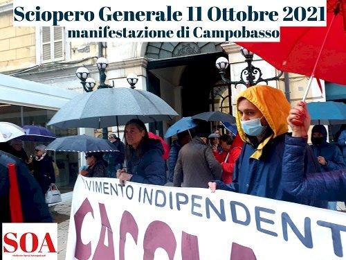 Manifestazione di Campobasso per lo sciopero generale